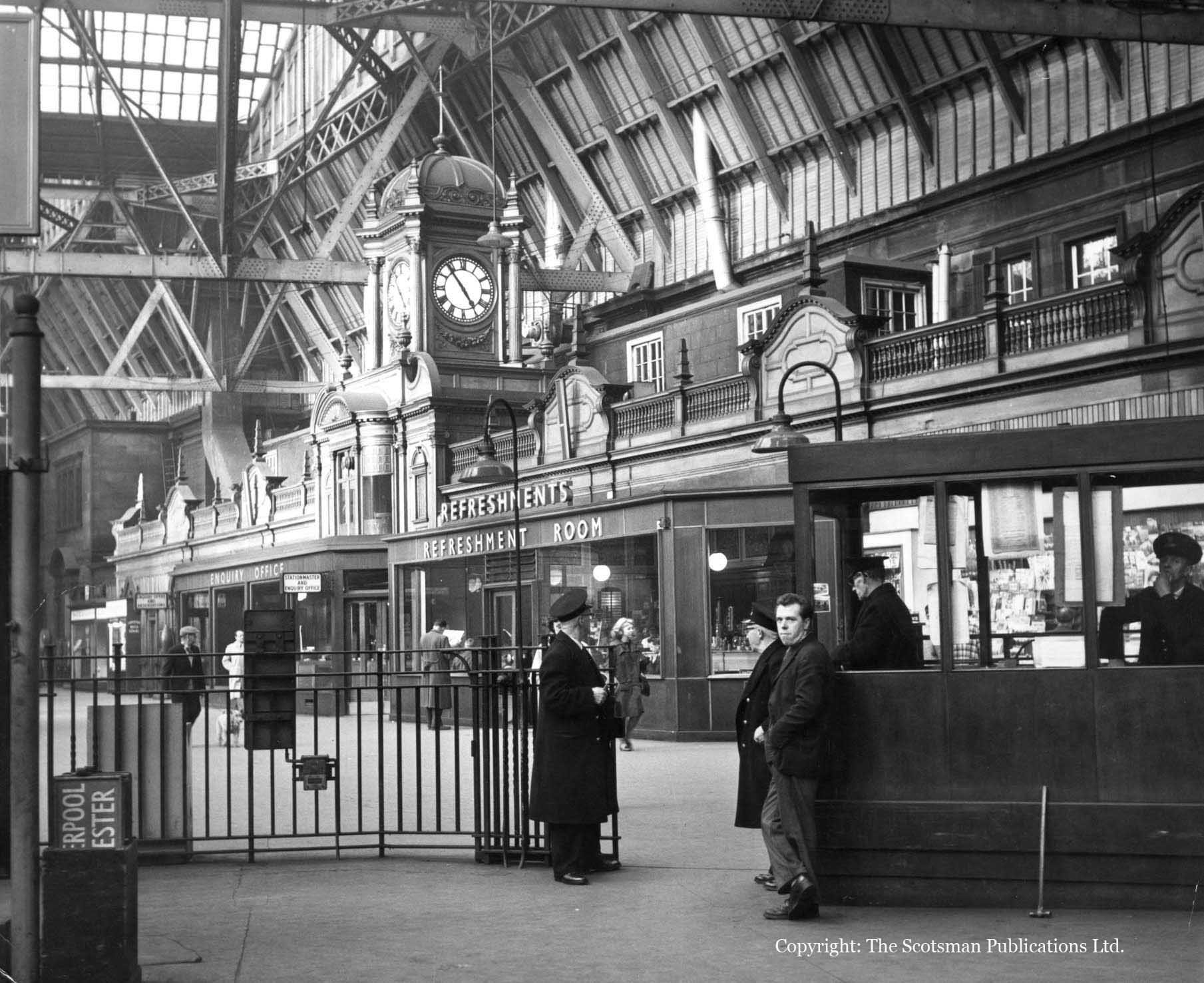 Caledonian Station aka Caley Station Princes Street Edinburgh in 1965.