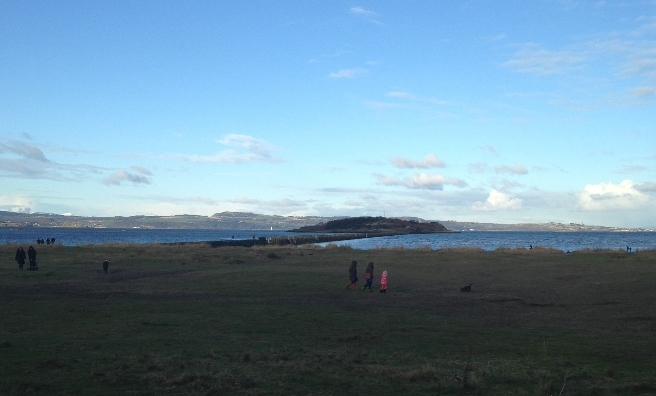 Plans to walk out to Cramond Island were scuppered by the tide. Next time!