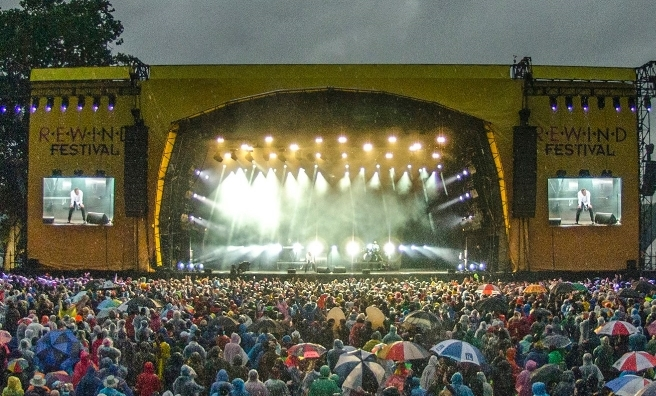 Not even rain can stop the Rewind party - but don't worry. We've requested sunshine this year!
