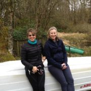 Alison and Faye by the loch
