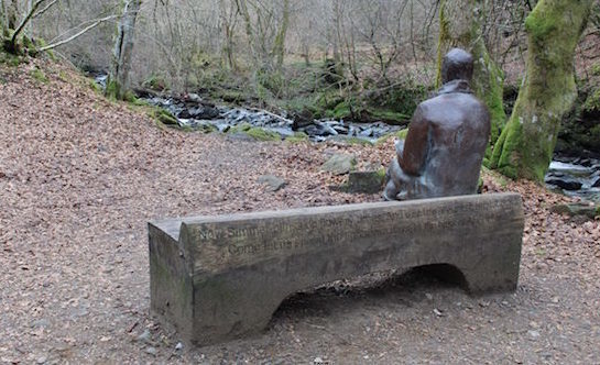 The statue of Burns at the Birks of Aberfeldy