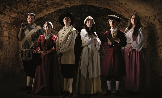 A few of the characters you might meet in Mary King's Close after a few drams! Photo courtesy of The Real Mary King's Close