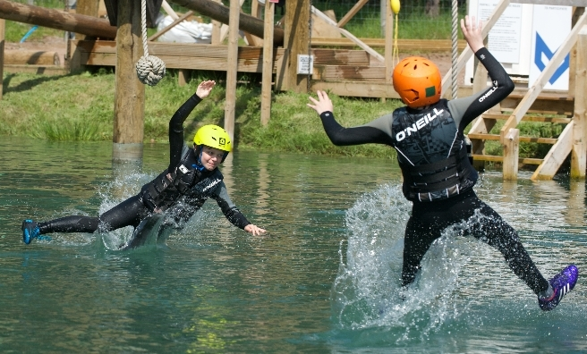 Just splashing around at one of the John Muir Outdoor Festival events at Foxlake. Photo by ROB MCDOUGALL