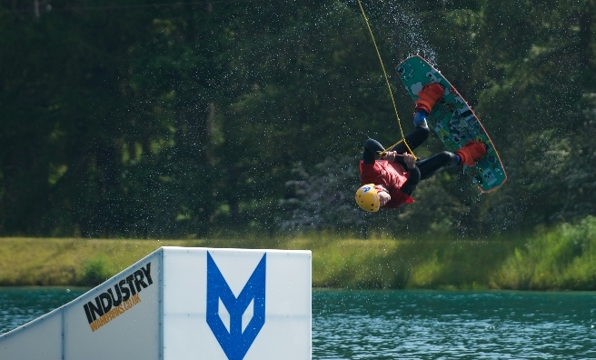 Wake boarding's on the programme at John Muir Outdoor Festival. Photo by ROB MCDOUGALL