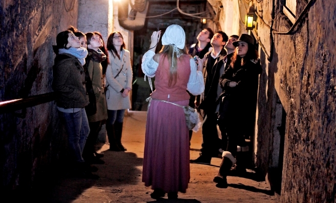 A tour of The Real Mary King's Close. Photo courtesy of The Real Mary King's Close