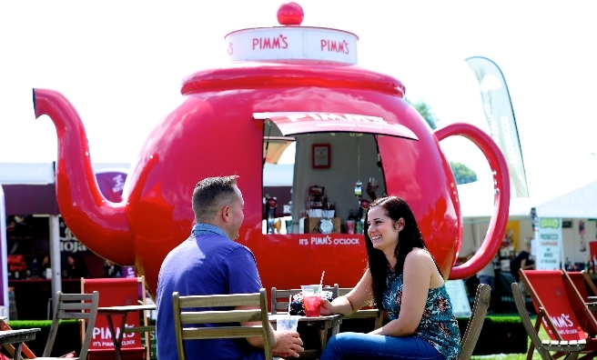 Pimms and sunshine - a very popular cocktail at Foodies Festival Edinburgh!