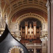 Aaron Angell's sculptures compliment Kelvingrove's beautiful mezzanine level.