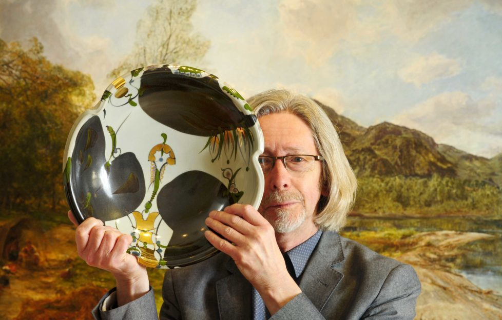 Archie McCall with one of his ceramic works. Pic: Colin Hattersley