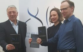 Saltire Society launch their 2016 plans - Jim Tough, Beth Bates and Gerry Hassan