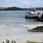 Looking back from Iona to Mull - the clear waters and white sands make for beautiful images.