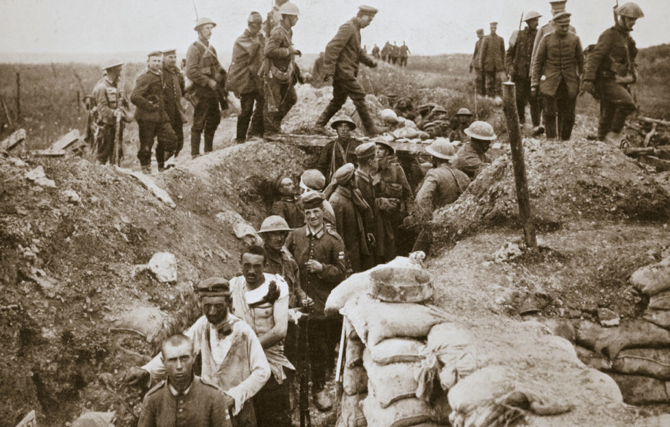 Crowded and direty WWI trenches dampened soldiers' spirits. Pic: Alamy