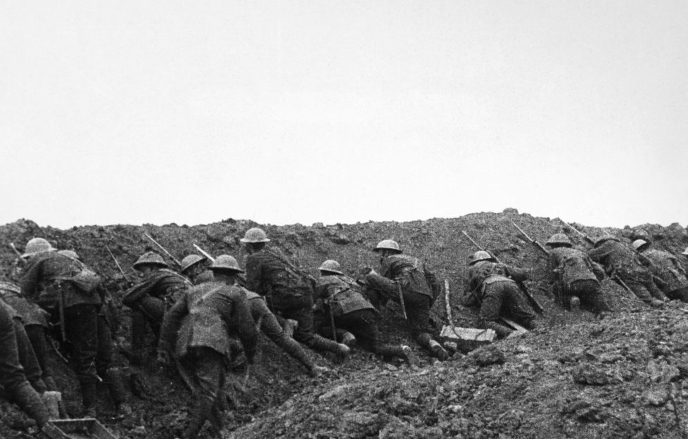 Going over the top at the Somme - trench warefare took its toll on many soldiers. Pic: Alamy