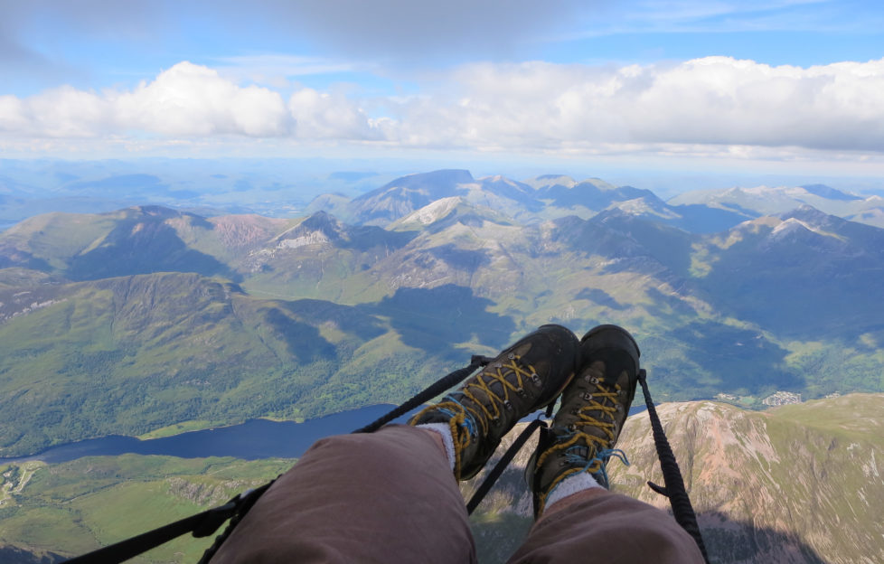 Above It All - Ed Ewing paraglides Scotland.