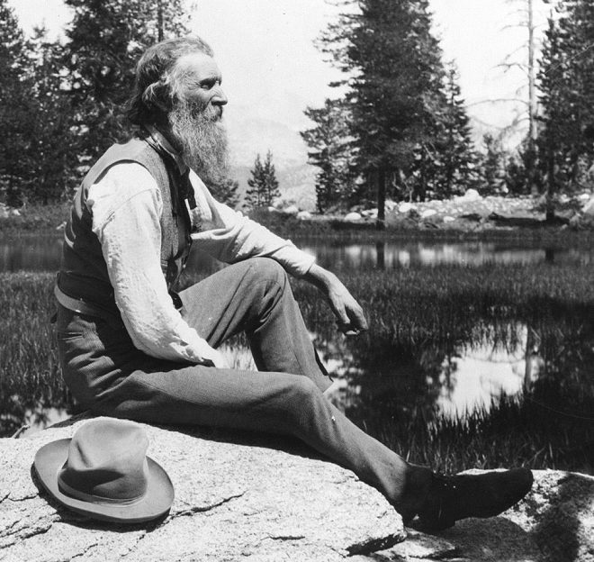 John Muir photographed in 1902.