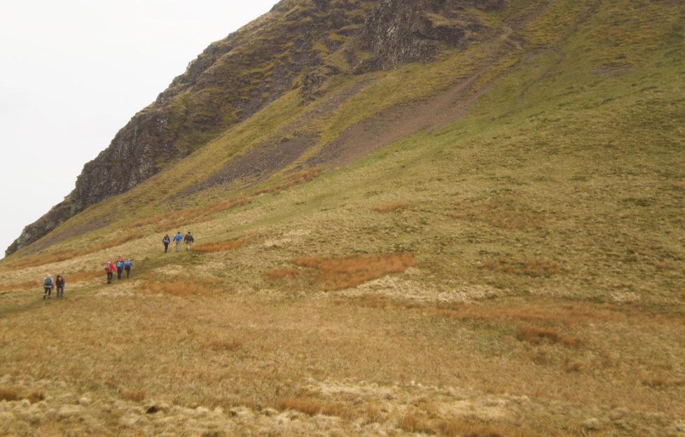 Dumgoyne has quite a steep ascent to begin with