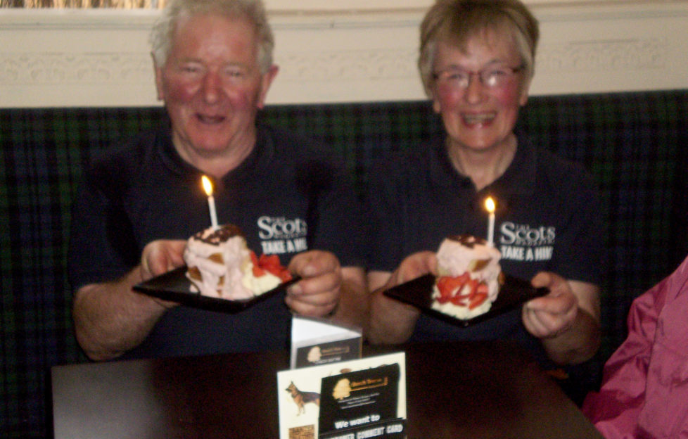 Frank and Liz Longmuir have been on every single Scots Mag hike!