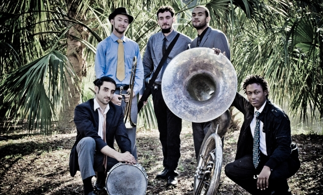 The New Orleans Swamp Donkeys - guaranteed to get the party started at the Byre In The Botanics