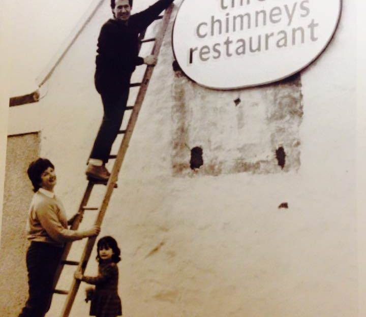 Where it all began - the opening of The Three Chimneys restaurant in the 1980s.