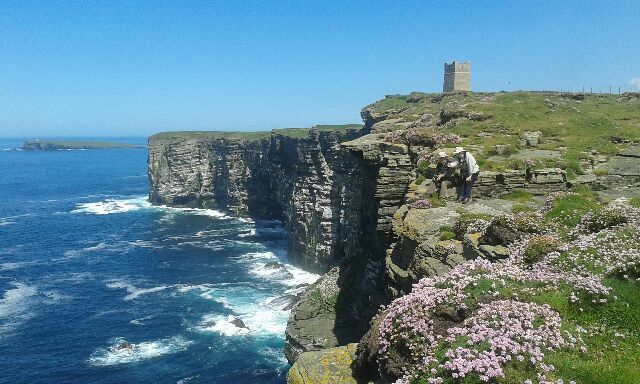 The view over to the Kitchener Memorial at Marwick Head