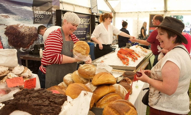 Treat yourself in the Scottish Game Fair's very well-stocked Food Hall. Pic by ROB MCDOUGALL