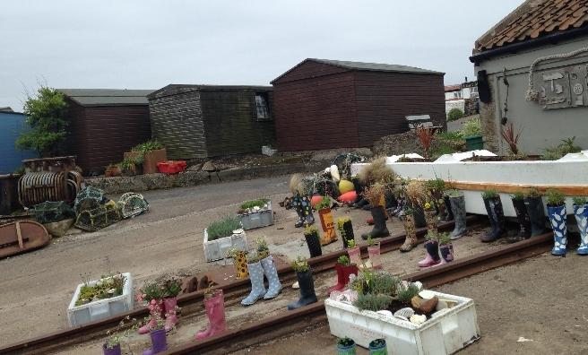 St Monan's wellie garden!