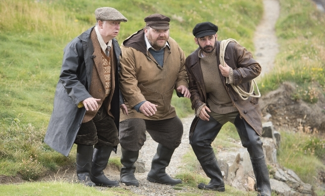 A scene from the remake of Whisky Galore - on general release soon (and it's well worth seeing!)