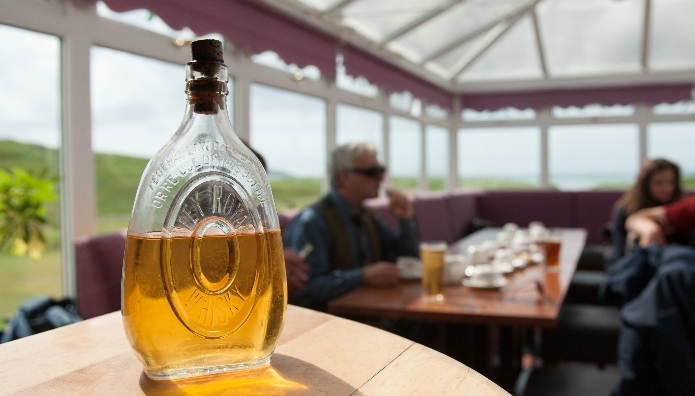 One of the bottles of whisky which was 'rescued' from the wreck of SS Politician