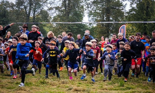 The kids' race gets underway at the Cambridge Bear Grylls Survival Race