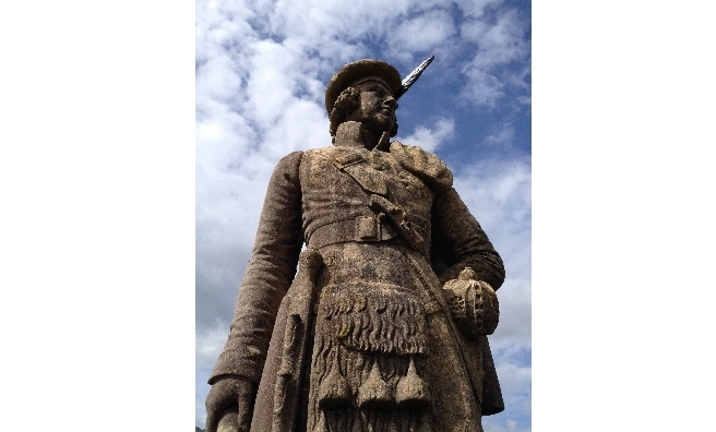 The Glenfinnan Monument's Kilted Highlander. Photo courtesy of National Trust For Scotland