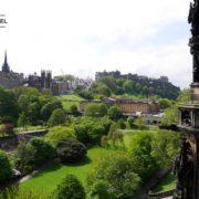 The view from Edinburgh's Scott Monument