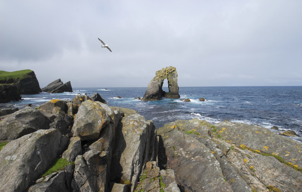 Gaada Stac is one of the many magnificent formations on Foula