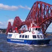 The Maid of the Forth begins one of her evening cruises.