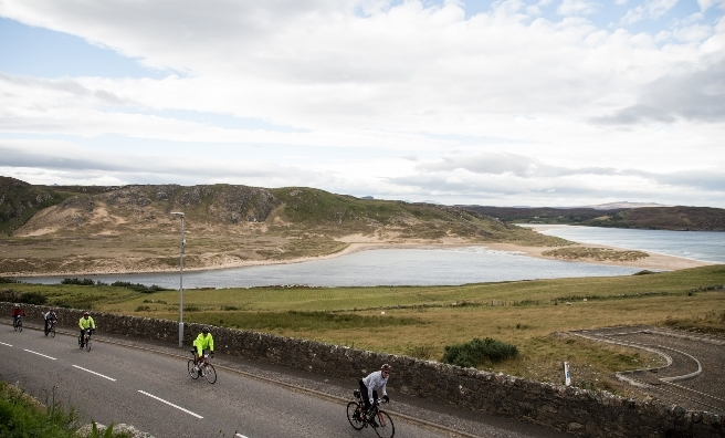 Cycling along the stunning Scottish coast with the Deloitte Ride Across Britain