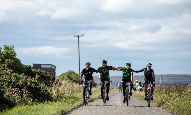 Team spirit on the Deloitte Ride Across Britain