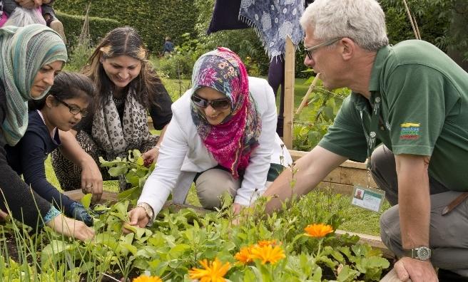 The Edible Garden at the Royal Botanic Garden Edinburgh.
