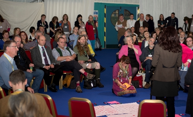 One of the many well-attended public discussions at the Scottish Rural Parliament 2014