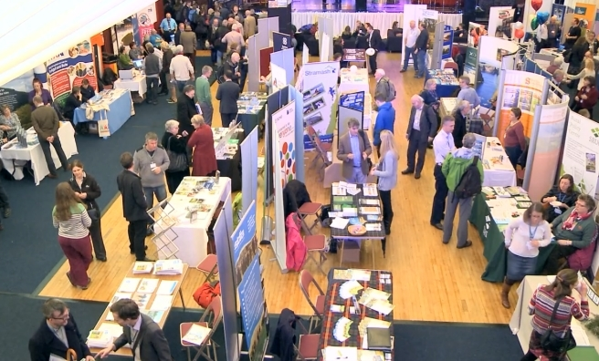 The exhibition area at the 2014 Scottish Rural Parliament