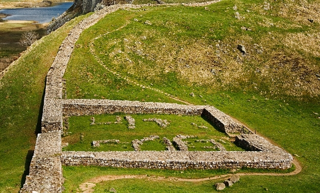 Remains of a Roman Fort alongside Hadrien's Wall. Pic courtesy of Shutterstock