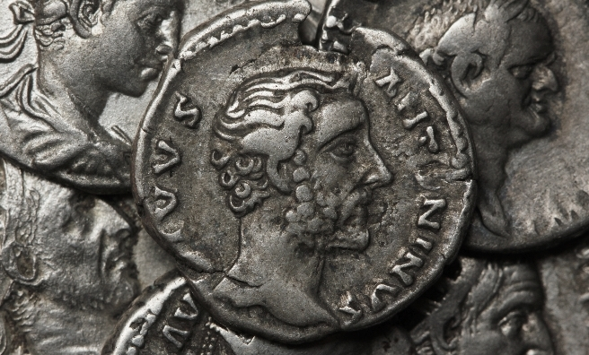 Roman coins from around 138 BC. Pic courtesy of Shutterstock.