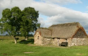 Old Leanach Farmhouse on Culloden Moor. Copyright @ Historic Environment Scotland