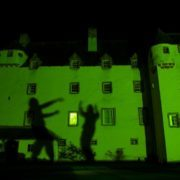 Traquair House is very different by night - especially on Hallowe'en