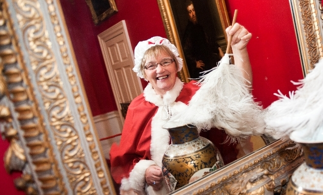 Mrs Claus prepares to welcome guests at Pollok House. Pic courtesy of National Trust for Scotland