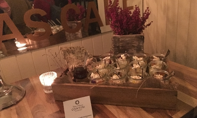 Contini's deliciously decedant dessert canapes - Caledonian Cream with Meringue and Glengoyne Marmalade