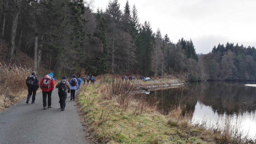 The return trek around the Tummel...
