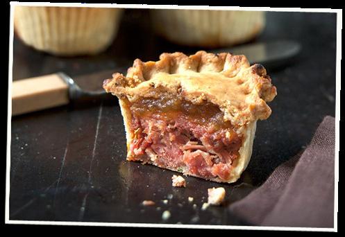 Chicken pie using Castle MacLellan's Chicken Pâté with Scottish Heather Honey.