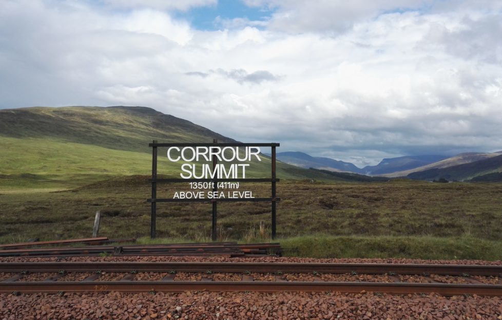 Beinn na Lap from the West Highland Line.