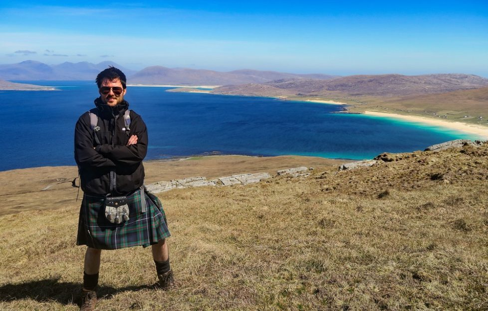 Neil fell in love with Harris on a recent visit to the isle... Pic: Neil Robertson