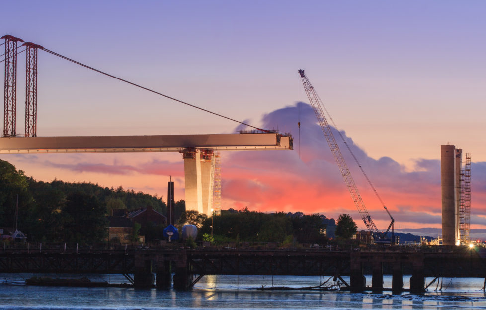 The beginnings of construction. Pic: iStock from Port Edgar