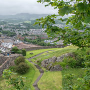 Amazing views from Dumbarton Castle. Pic: Kay Gillespie.