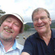 Hike experts Nick Drainey and Garry Fraser enjoying the sunshine